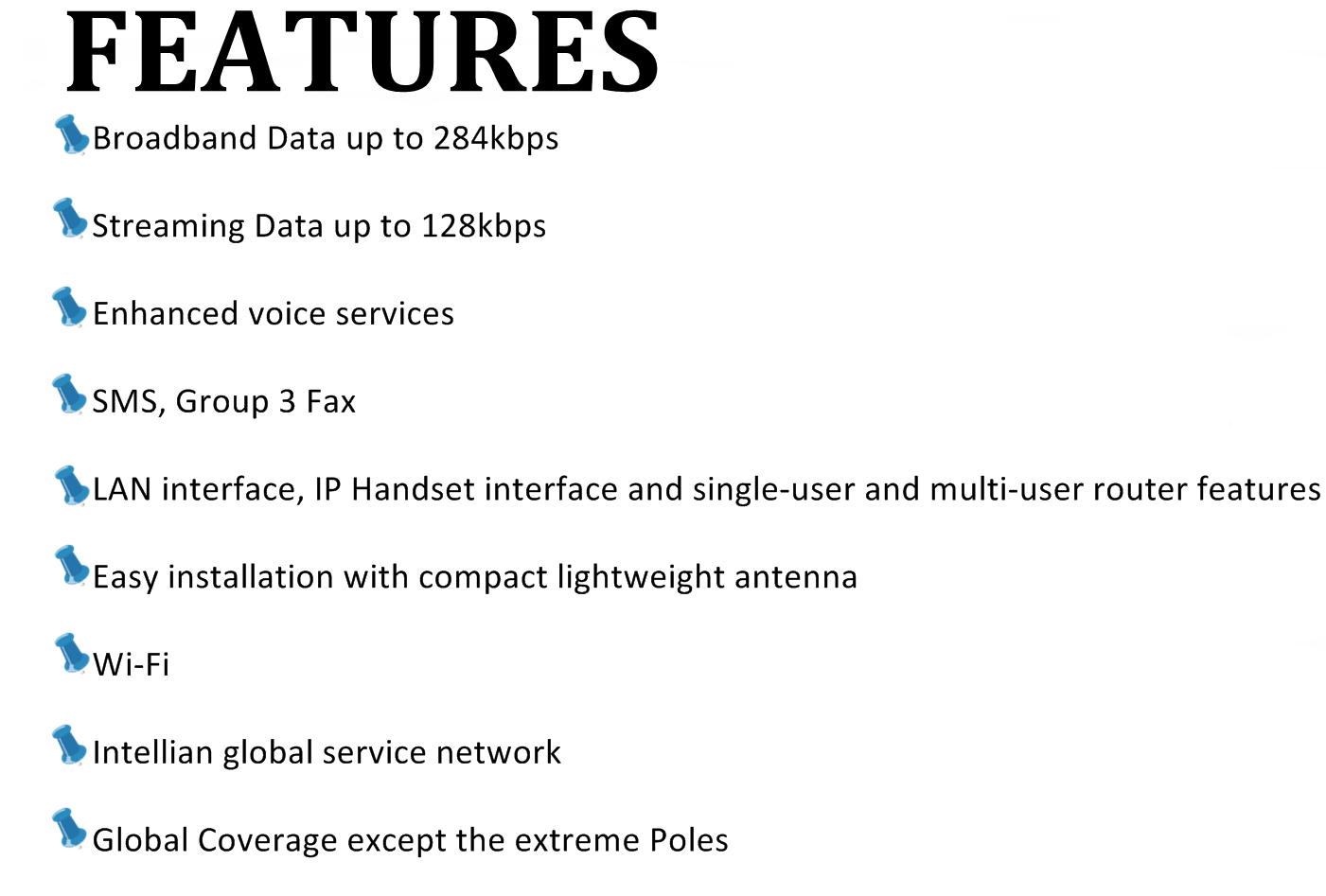 features intellian250