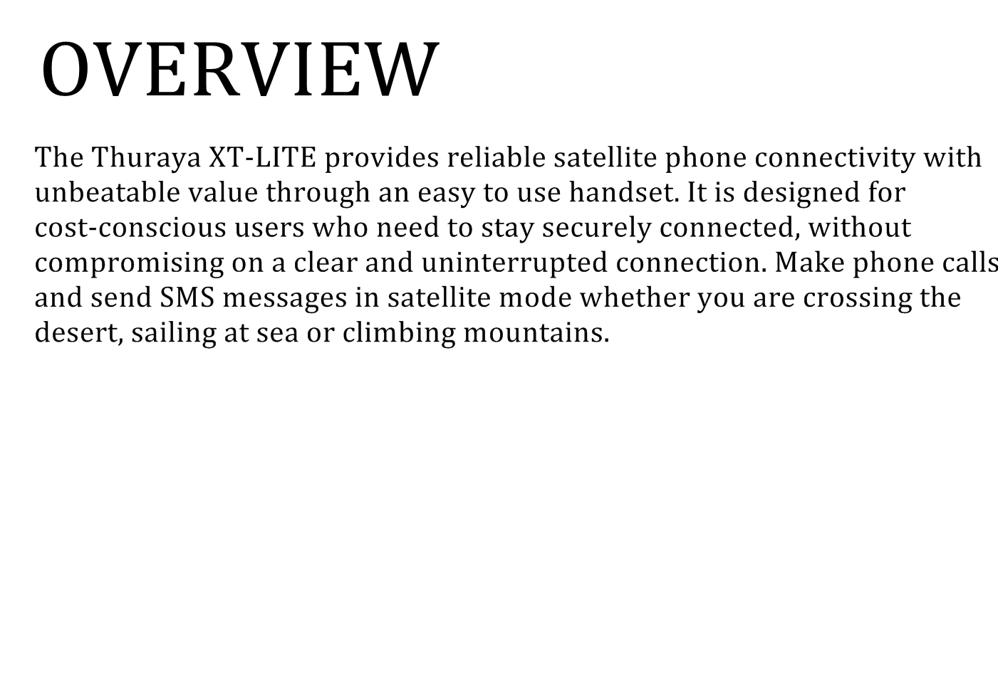 overview thuraya lite